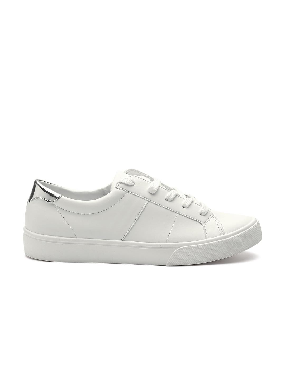 5067c2106b Buy MANGO Women White Sneakers - Casual Shoes for Women 2141678 | Myntra