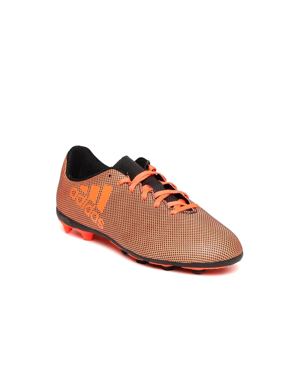 ADIDAS Boys Orange X 17.4 FXG J Football Shoes