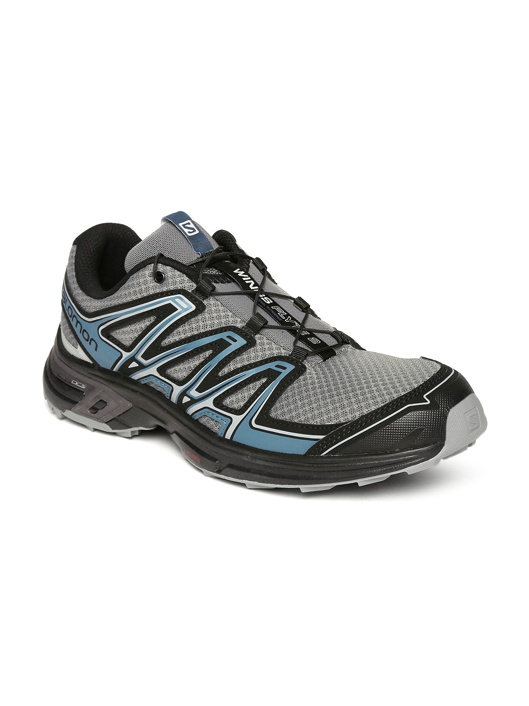 the latest a64e6 3a194 Salomon Men Grey Wings Flyte 2 Running Shoes