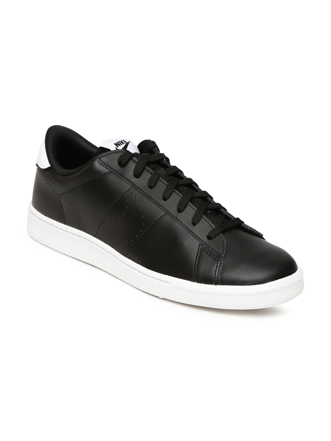 new styles 39641 2b680 Nike Men Black TENNIS CLASSIC CS Leather Sneakers