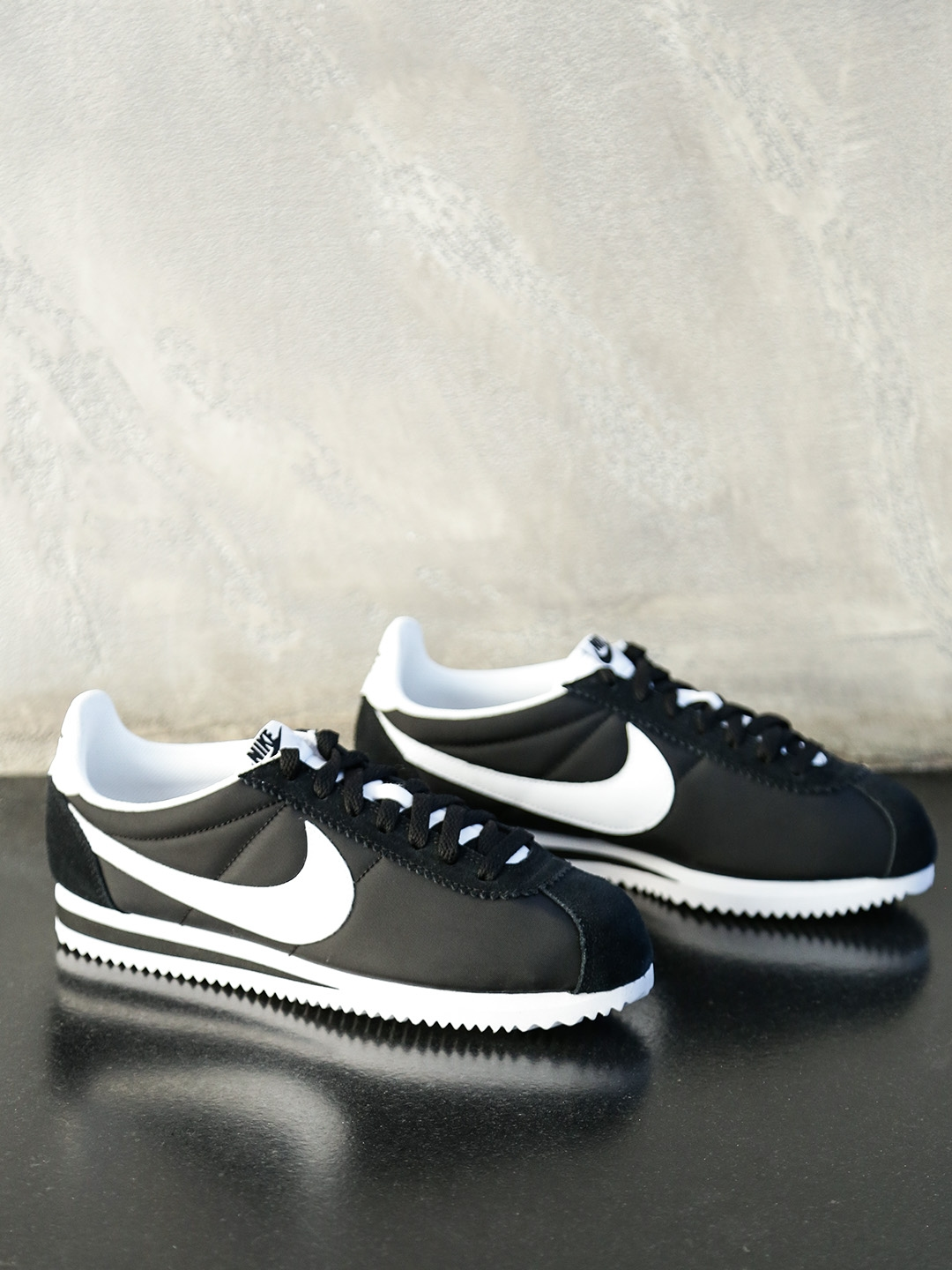 super popular 6360d 86b78 Nike Women Black CLASSIC CORTEZ NYLON Sneakers