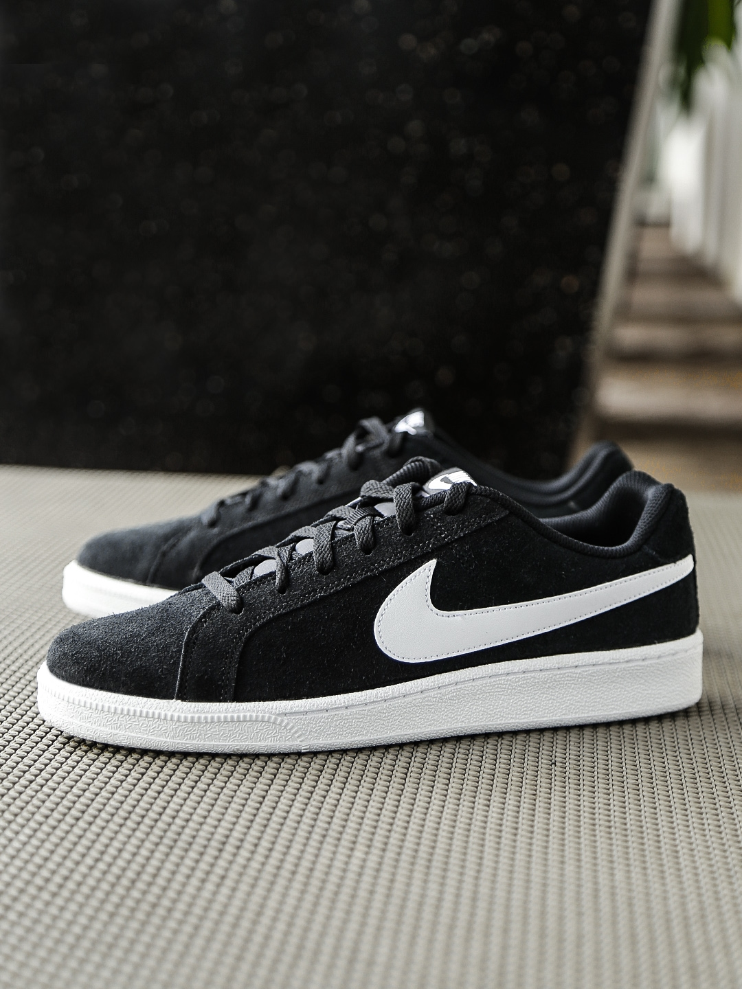 detailed look 6d792 6e2da Nike Men Black COURT ROYALE Suede Sneakers