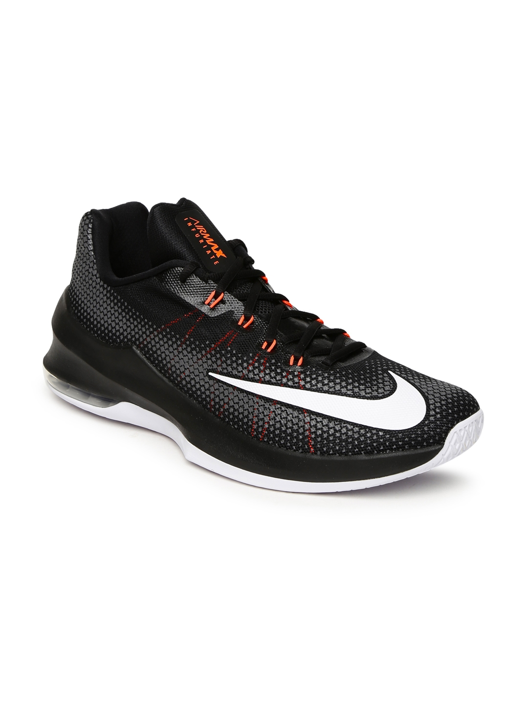 various colors 29ffc 99737 Nike Men Black AIR MAX INFURIATE LOW Printed Basketball Shoes