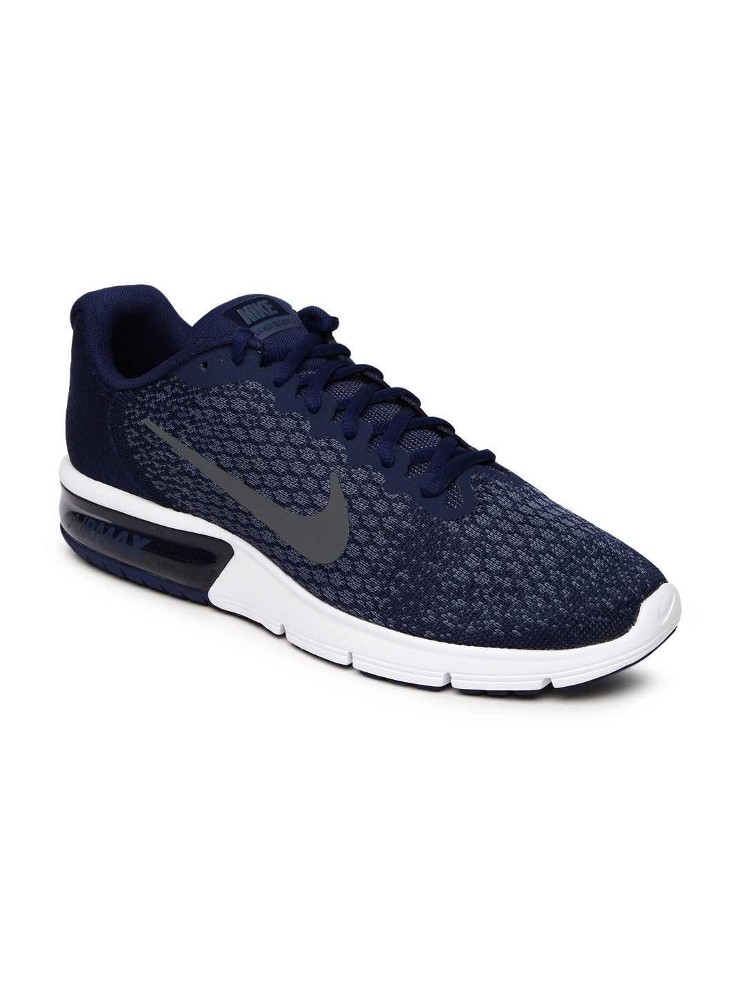 Buy Nike Men Blue AIR MAX SEQUENT 2 Running Shoes - Sports Shoes for ... e34229b9aa