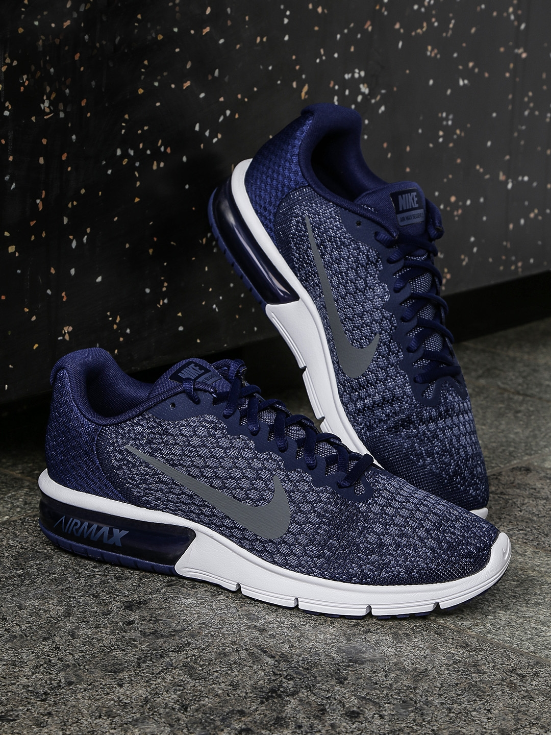 fb47480998e Buy Nike Men Blue AIR MAX SEQUENT 2 Running Shoes - Sports Shoes for ...