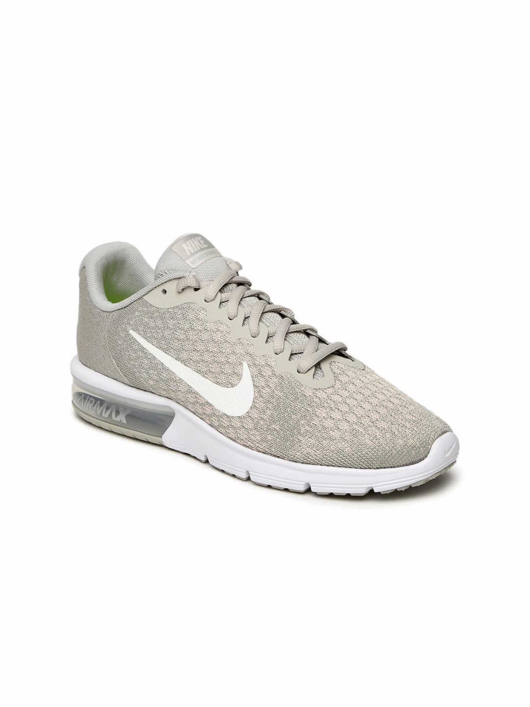 4fe35643c4 Buy Nike Women Beige AIR MAX SEQUENT 2 Running Shoes - Sports Shoes ...