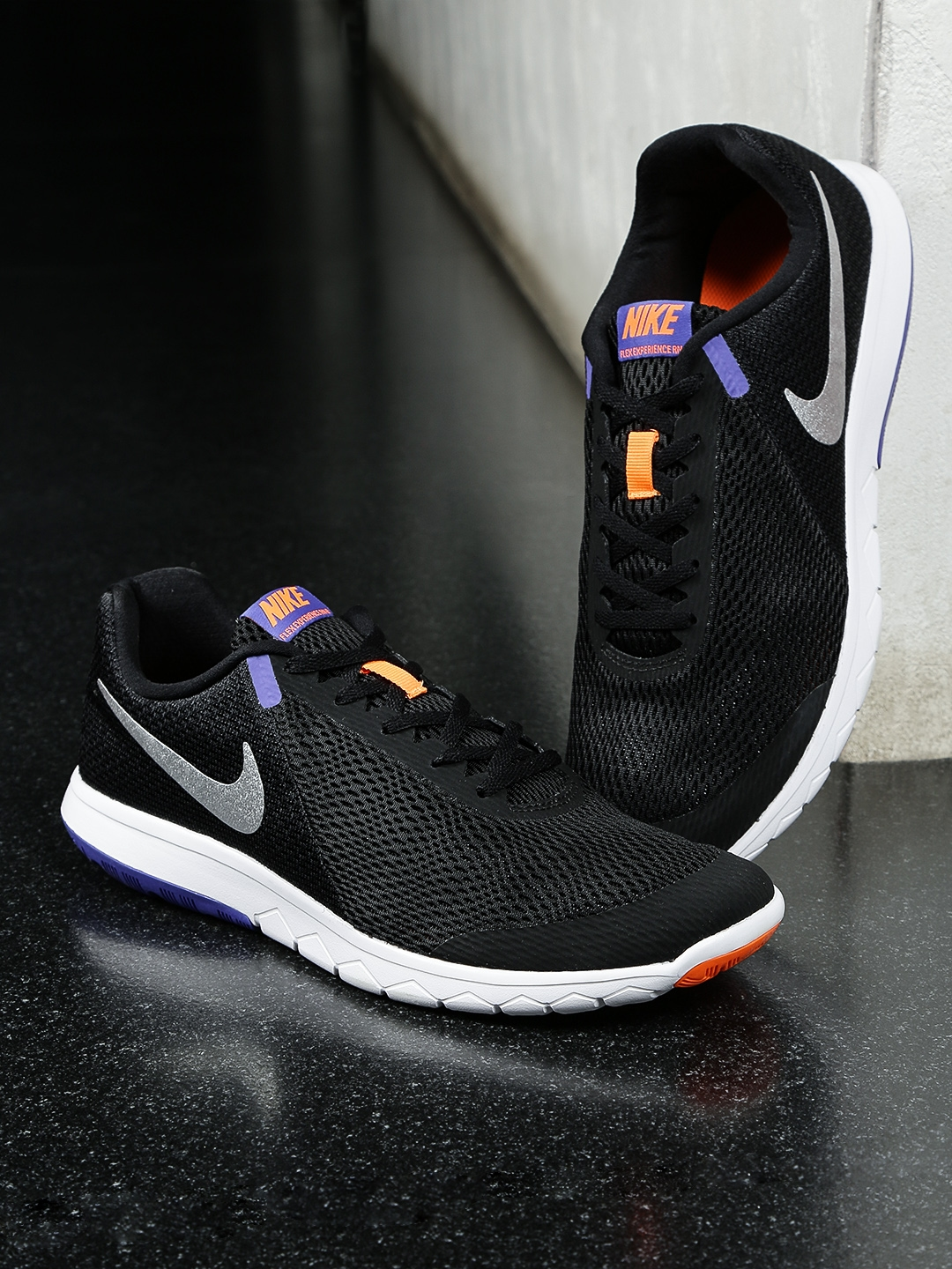 f058e22df8c Buy Nike Men Black FLEX EXPERIENCE RN 6 Running Shoes - Sports Shoes ...