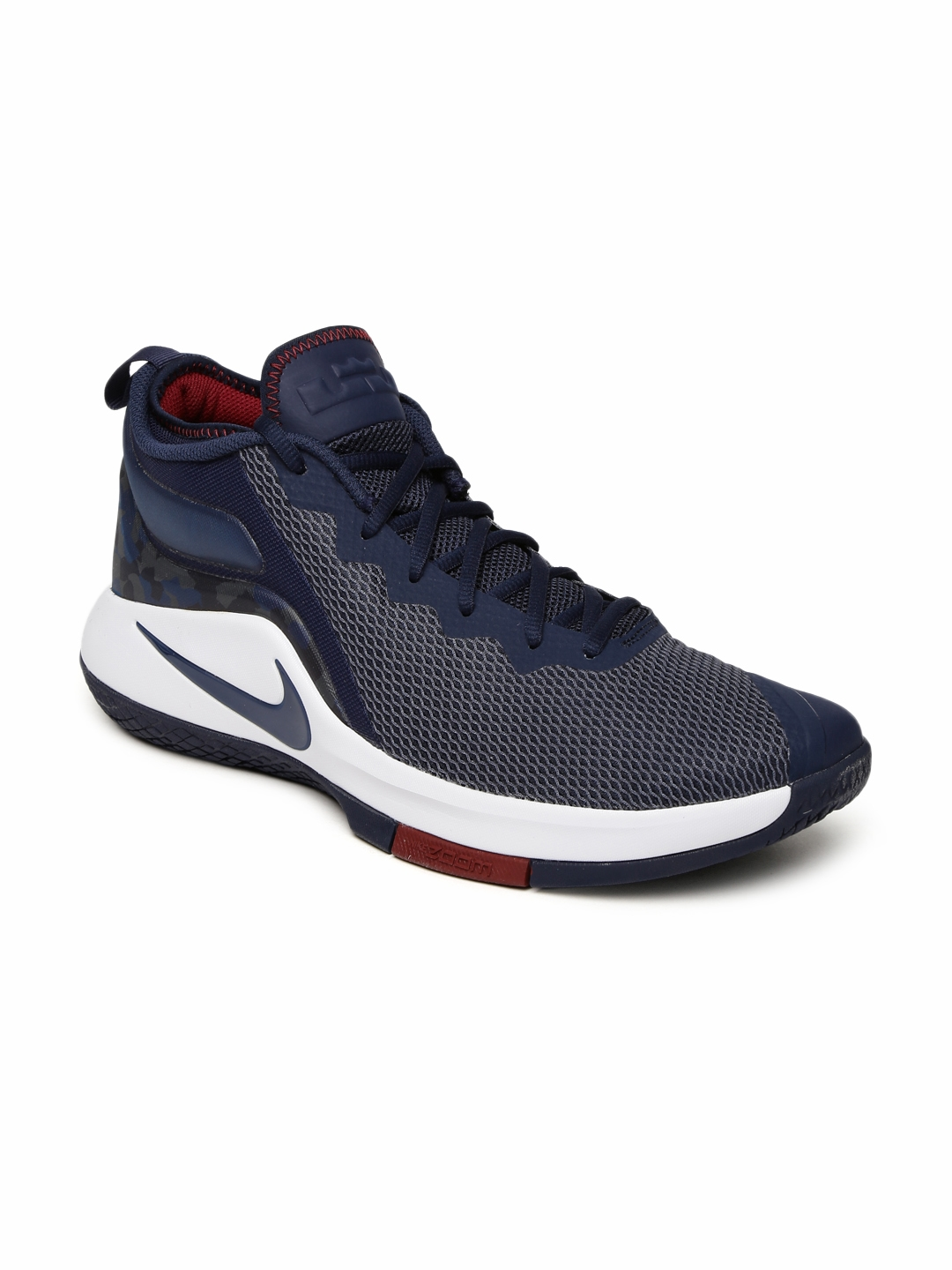 1ff8e77ddf19d Buy Nike Men Navy NBA LEBRON JAMES WITNESS II Mid Top Basketball ...