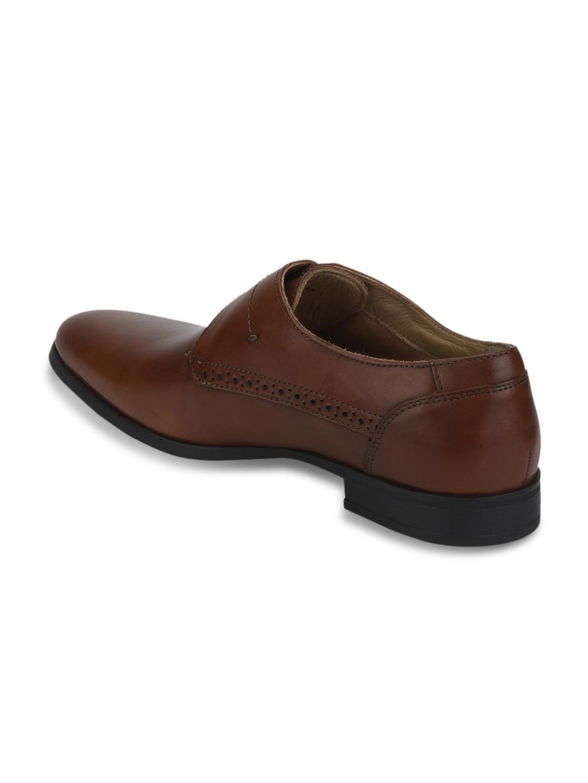 220b9b339ee701 Buy Park Avenue Men Brown Genuine Leather Monks - Formal Shoes for ...