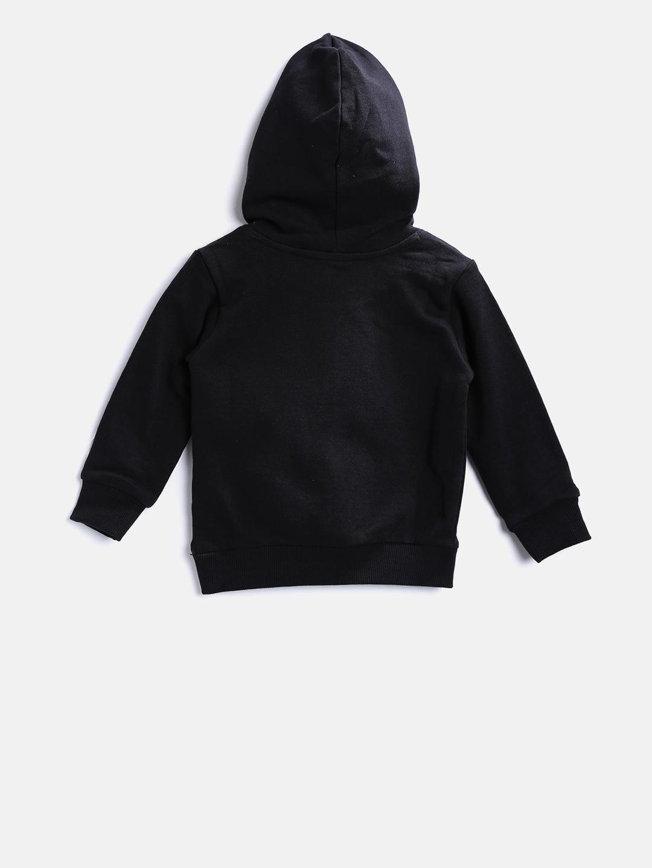 ccd2f7813711 Buy United Colors Of Benetton Boys Black Printed Hooded Sweatshirt ...