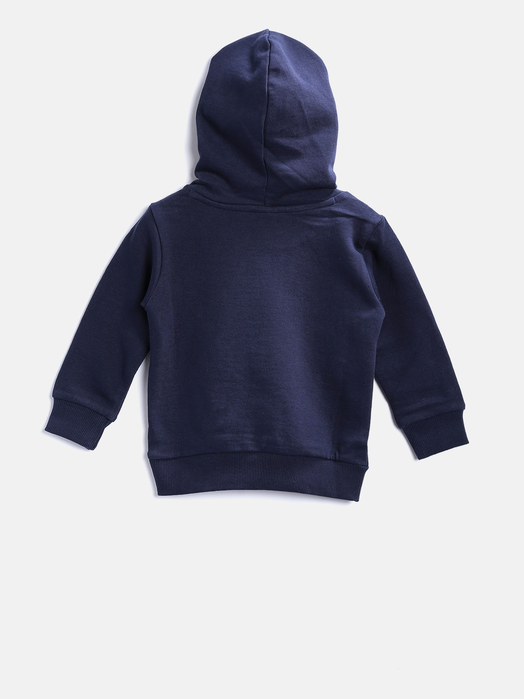 3867a0c923 United Colors of Benetton Boys Navy Blue Printed Hooded Sweatshirt