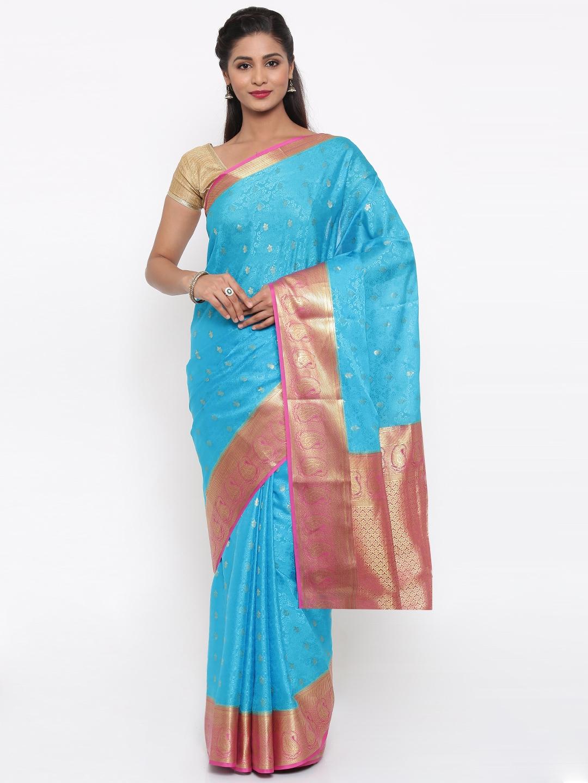The Chennai Silks Classicate Blue Pure Mysore Silk Saree