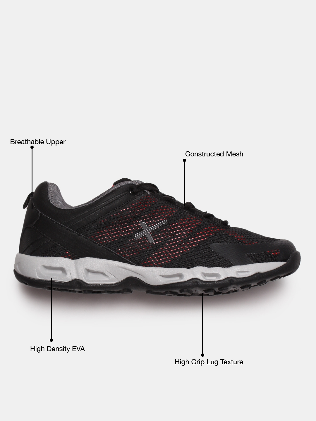 c2887f7c5 HRX by Hrithik Roshan Men Active Black Core 1.0 Running Shoes MJ-10875A. Best  Price  ...