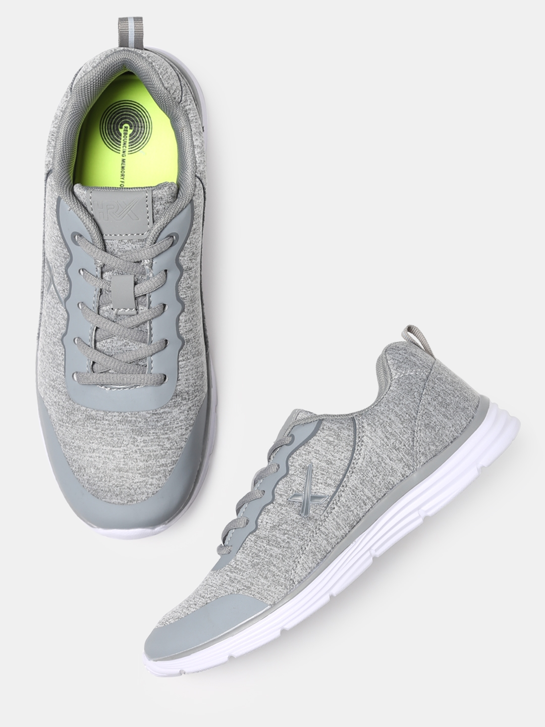 c8b650ef01d HRX by Hrithik Roshan Women Active Grey Melange LJ-14540A Flash Running  Shoes