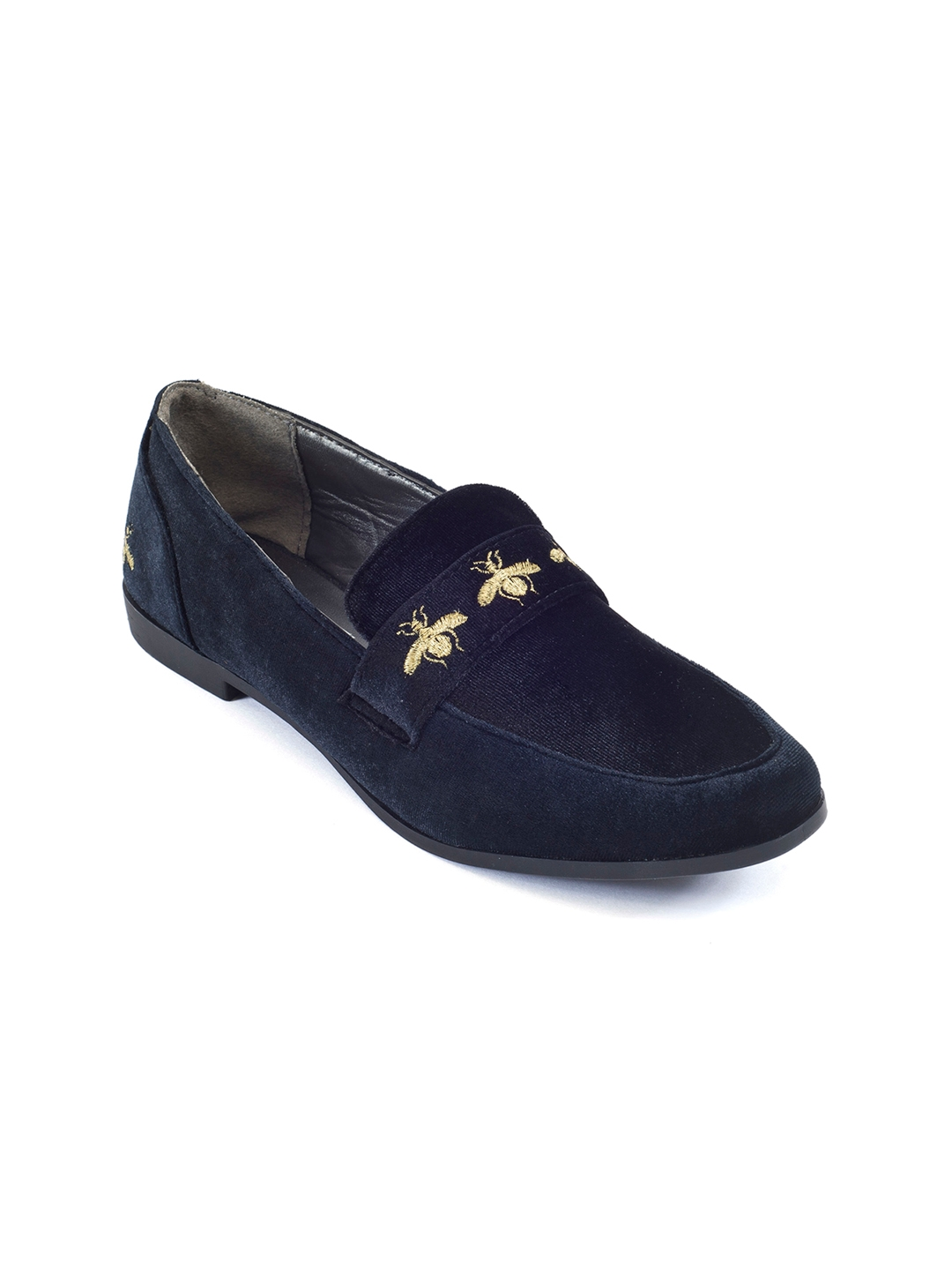 60ccd0cf5ef Buy Truffle Collection Women Black   Navy Blue Loafers - Casual ...