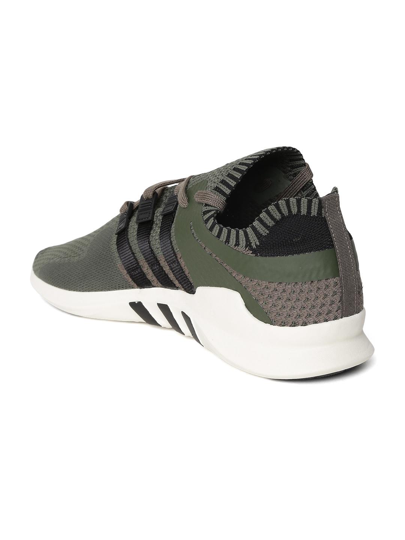 fa4105a8fec1 Buy ADIDAS Originals Men Olive Green EQT Support ADV Sneakers ...