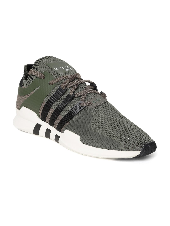 b3fc5c8c68ca1 Buy ADIDAS Originals Men Olive Green EQT Support ADV Sneakers ...