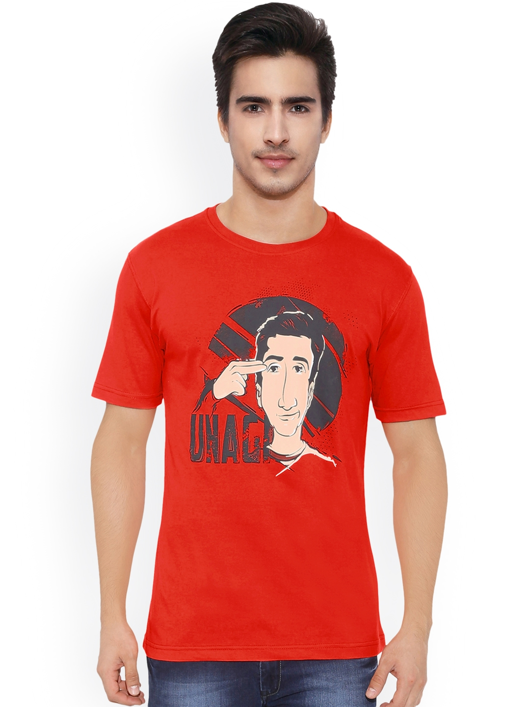b79975822 Buy The Souled Store Unisex Red Printed F.R.I.E.N.D.S  Unagi T Shirt ...