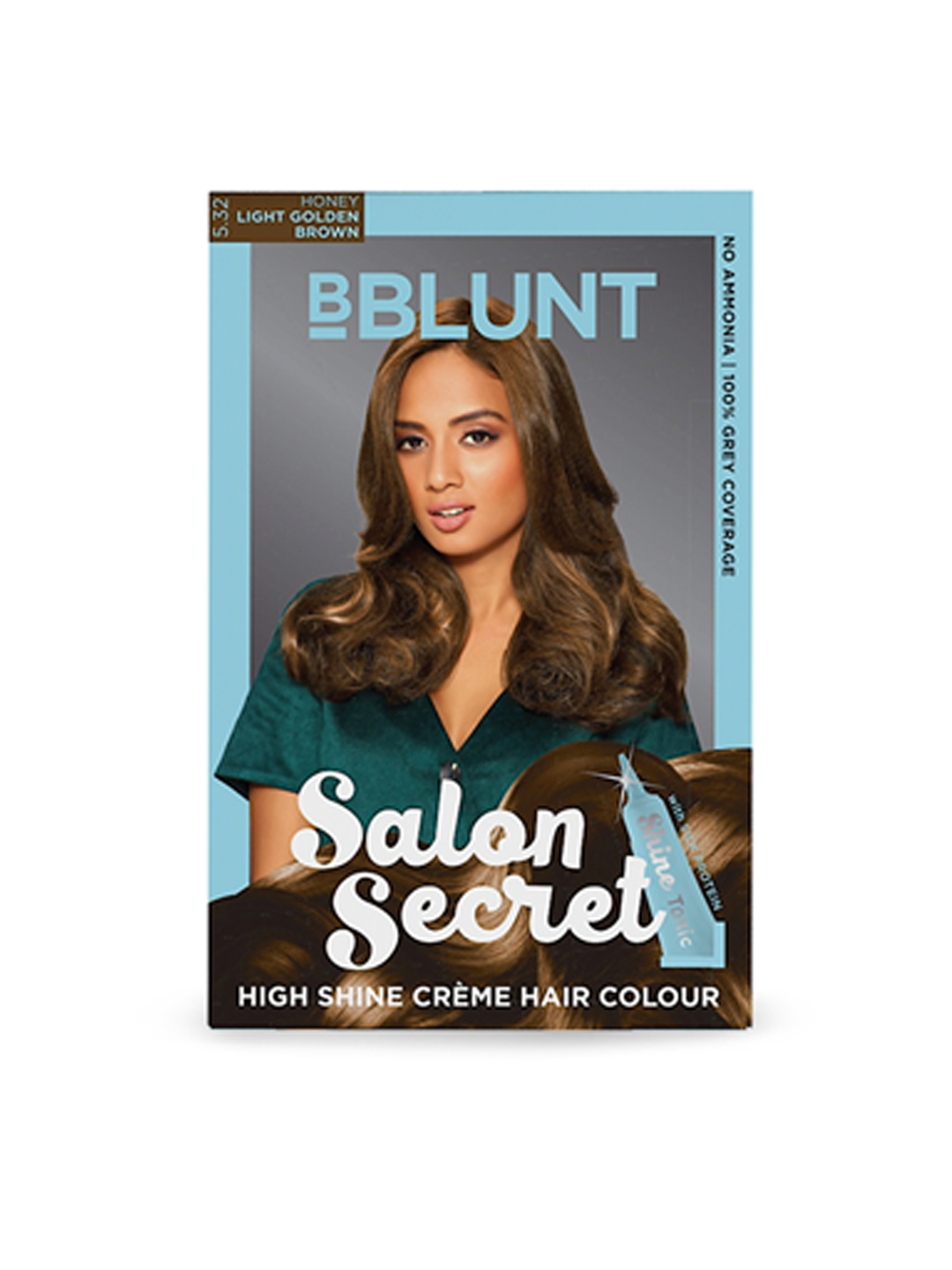 BBlunt Salon Secret High Shine Creme Hair Colour, Honey Light Golden Brown