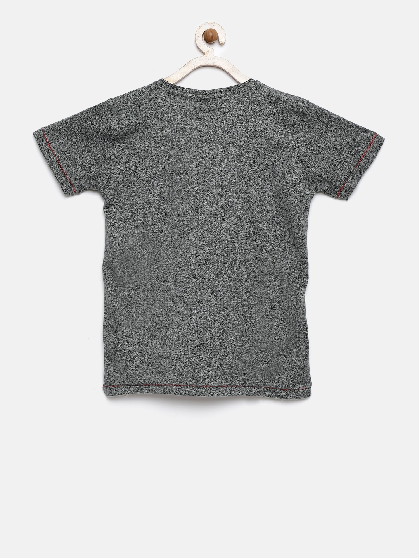 1e8a3bd766f Buy FC Barcelona Boys Charcoal Grey Printed Round Neck T Shirt ...