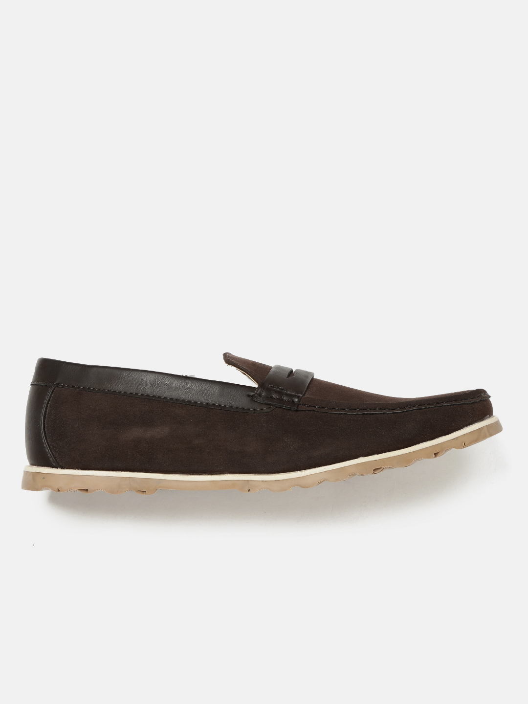 71ea7415574 Buy Mast   Harbour Men Coffee Brown Penny Loafers - Casual Shoes for ...