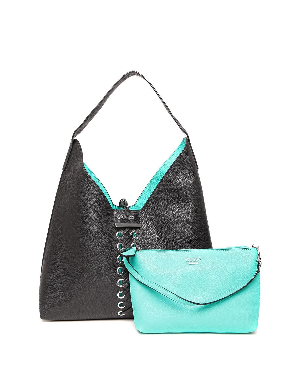 957f5a85cd Buy GUESS Black   Blue Reversible Hobo Bag - Handbags for Women ...