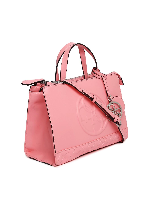 Buy GUESS Pink Solid Handbag - Handbags for Women 2167250   Myntra 6ea7bcea59