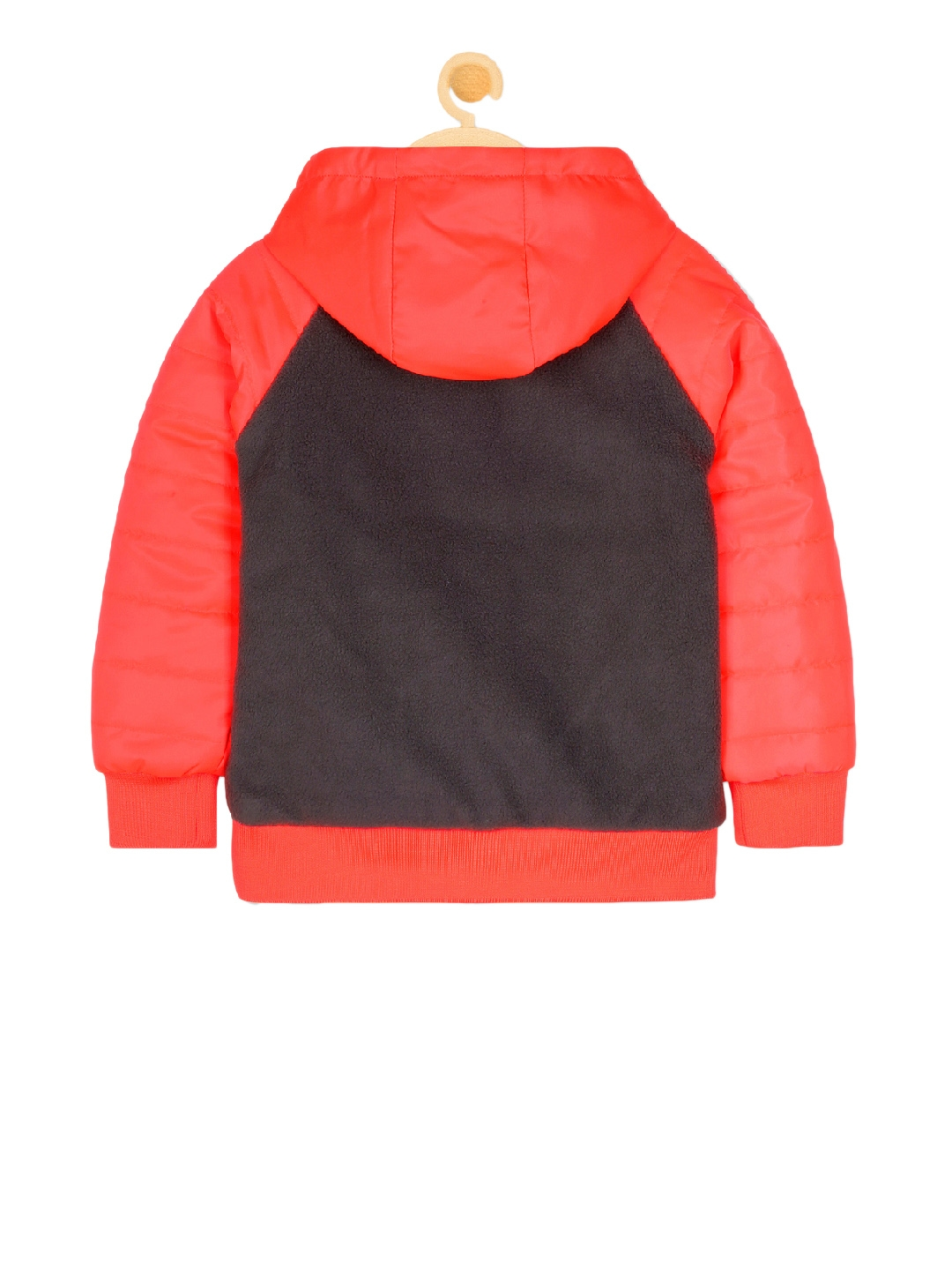 Buy Cherry Crumble Unisex Red Colourblocked Open Front Jacket