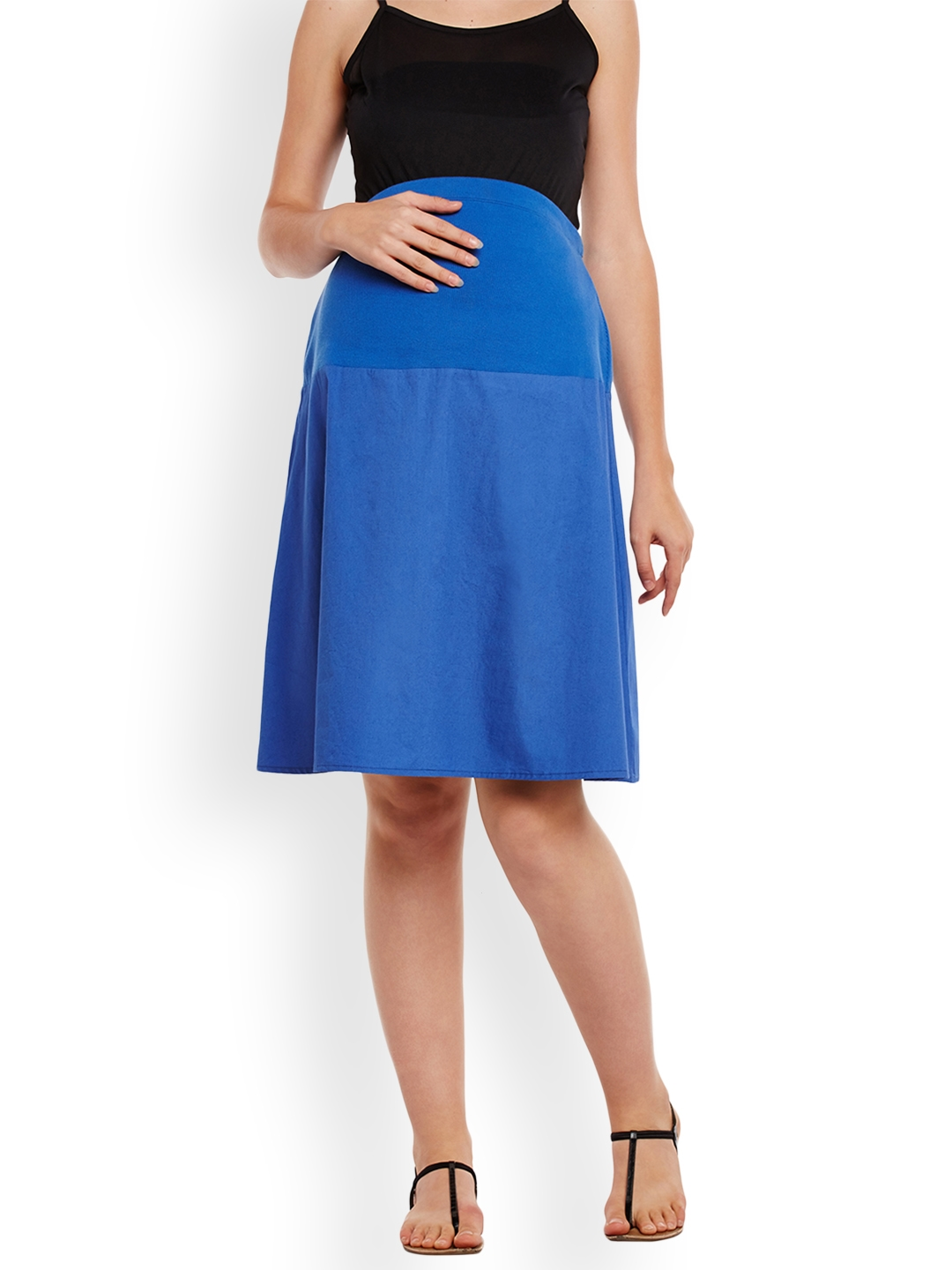 a78a9c9d9cea2 Buy Oxolloxo Blue Maternity Skirt - Skirts for Women 2168749 | Myntra