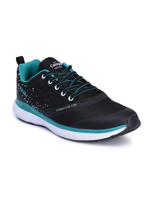 Campus Men Freedom Black   Blue Running Shoes