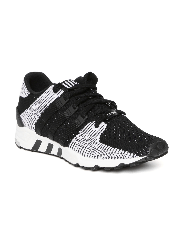 604f3eab669a ADIDAS Originals Men Black   White EQT Support RF PrimeKnit Sneakers