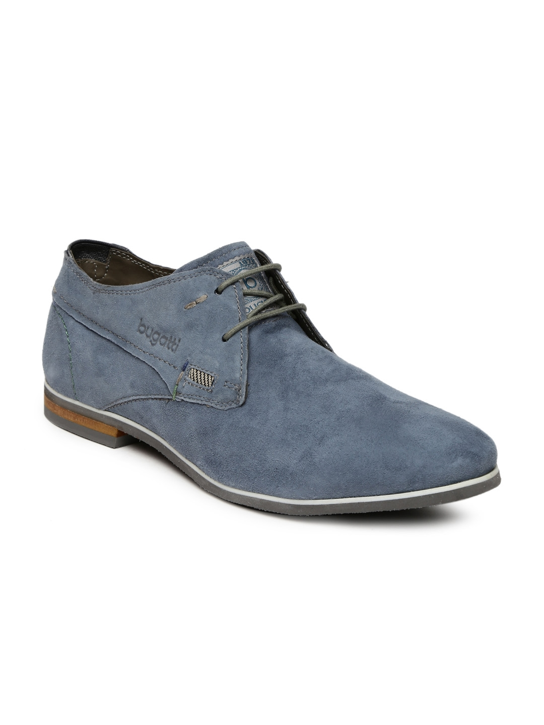 7cad49e054d27 Buy Bugatti Men Blue Bertoldo Suede Derbys - Casual Shoes for Men ...