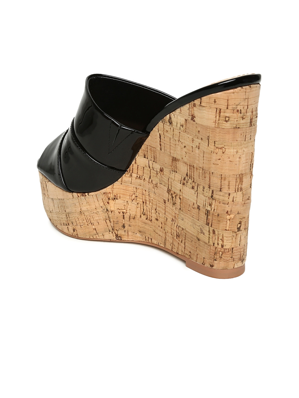 5f138681e51 Buy Steve Madden Women Black Patent Leather Wedges - Heels for Women ...