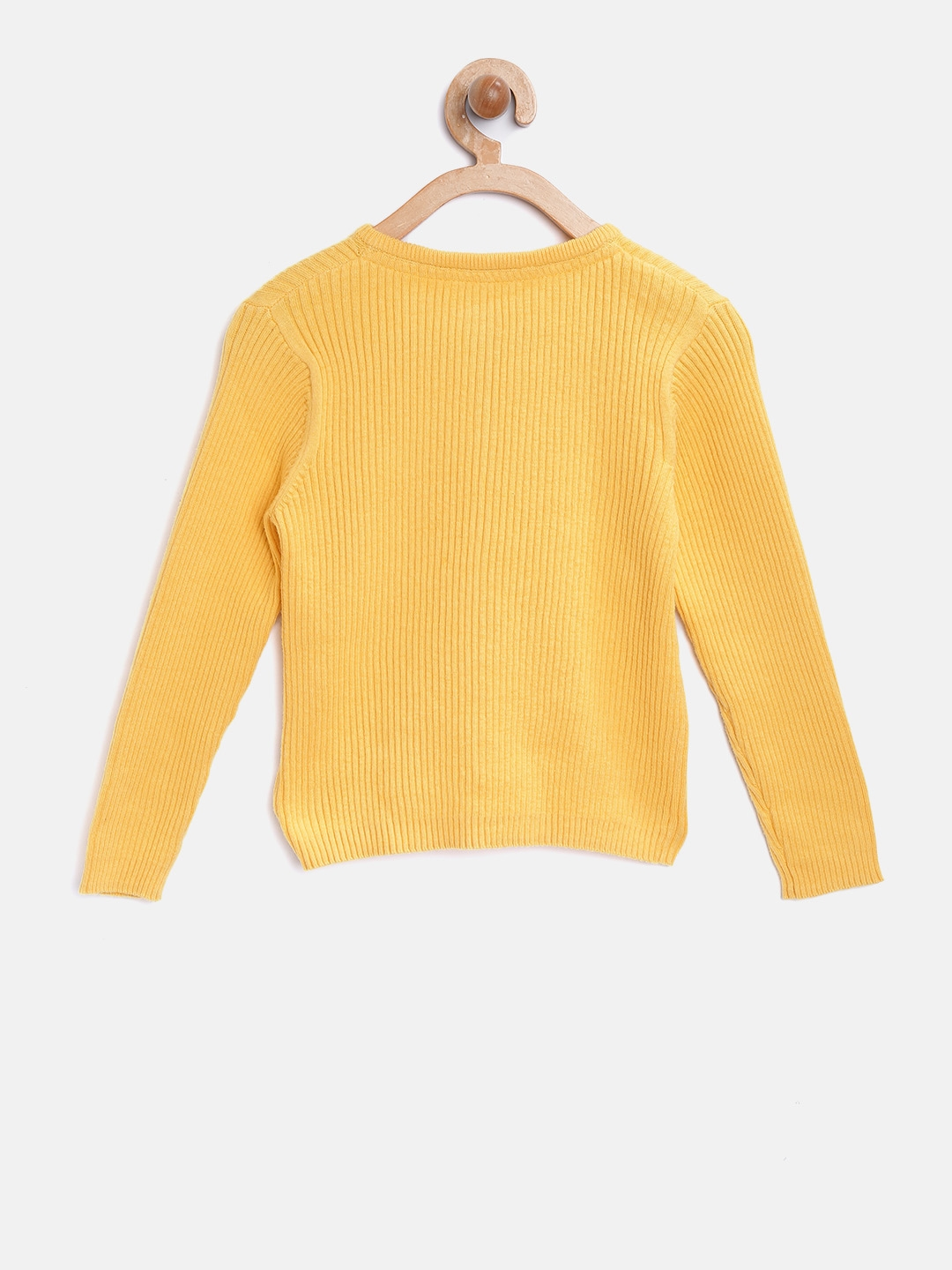 7cf8e9c4c8 Buy Mothercare Girls Yellow Self Striped Cardigan - Sweaters for ...