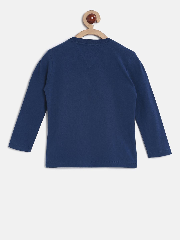 92ab0cee702d Buy Tommy Hilfiger Boys Blue Printed Round Neck T Shirt - Tshirts ...