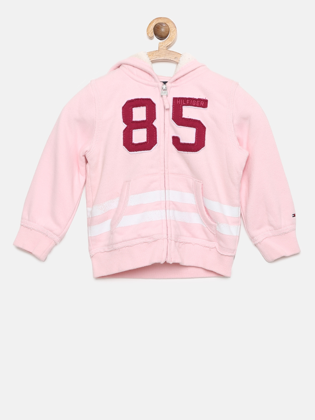 64ee5e75ab4 Buy Tommy Hilfiger Girls Pink Printed Hooded Sweatshirt ...