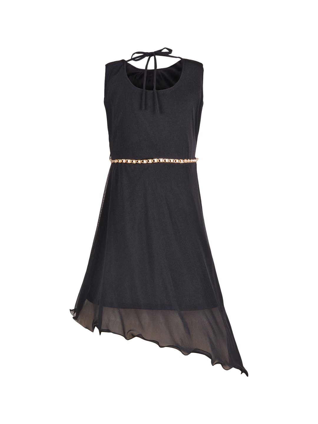 86c953eca Buy Aarika Girls Black Solid Fit And Flare Dress - Dresses for Girls ...