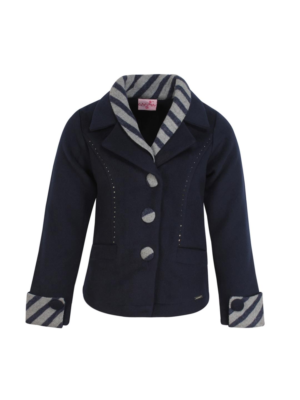 6a61685e259b Buy CUTECUMBER Girls Navy Blue Coat - Coats for Girls 2176024