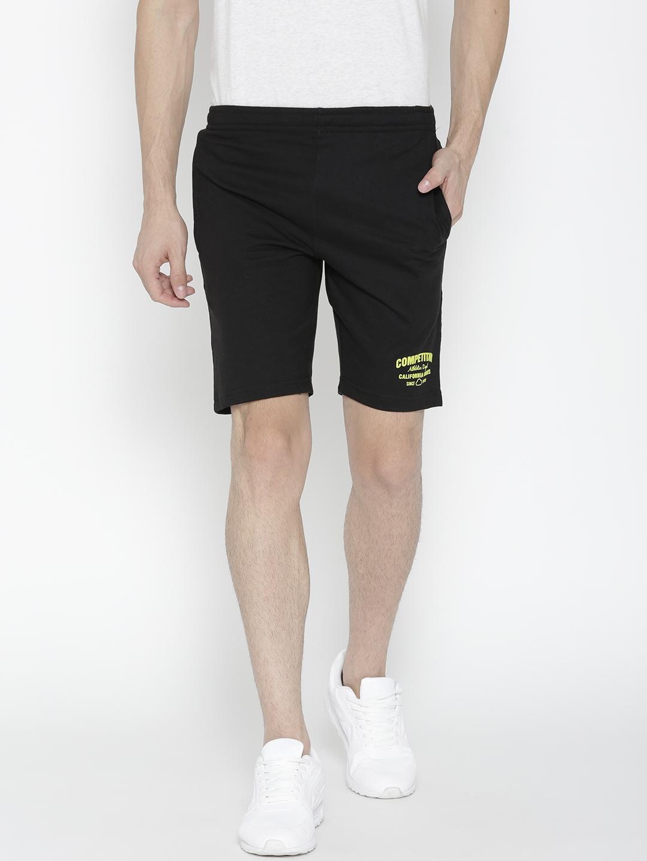 Sweet Dreams Men Black Solid Sports Shorts