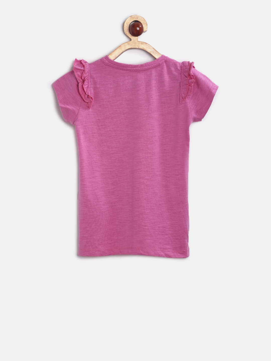 9f4f5cd7e Buy Mothercare Girls Pink Solid Top - Tops for Girls 2181392