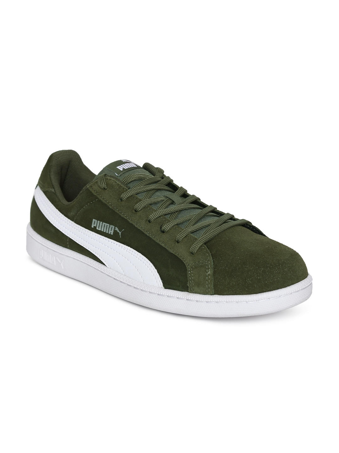 Buy Puma Men Olive Green Smash SD Sneakers - Casual Shoes for Men ... 9ac9fb4dc