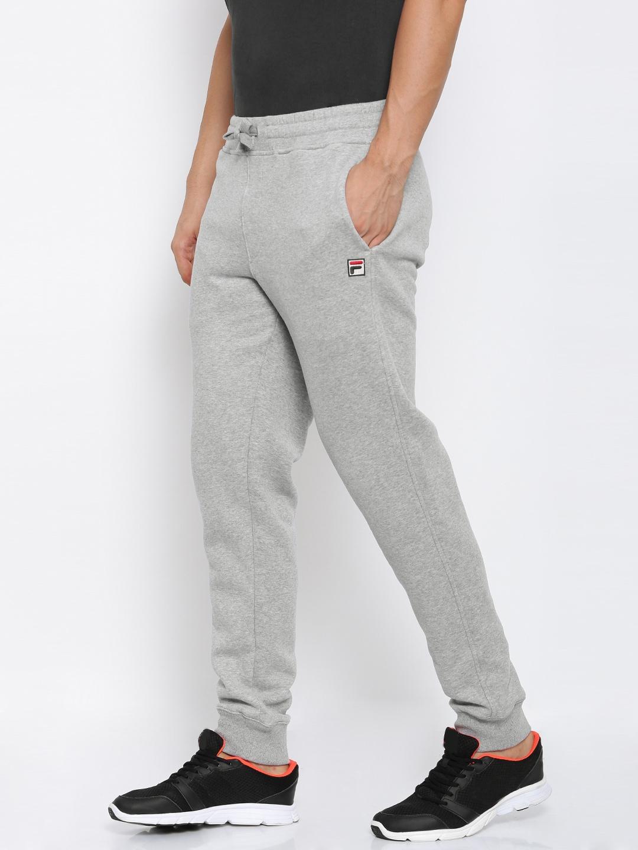 1834563c15903 Buy FILA Grey Melange VISCONTI Joggers - Track Pants for Men 2185181 ...