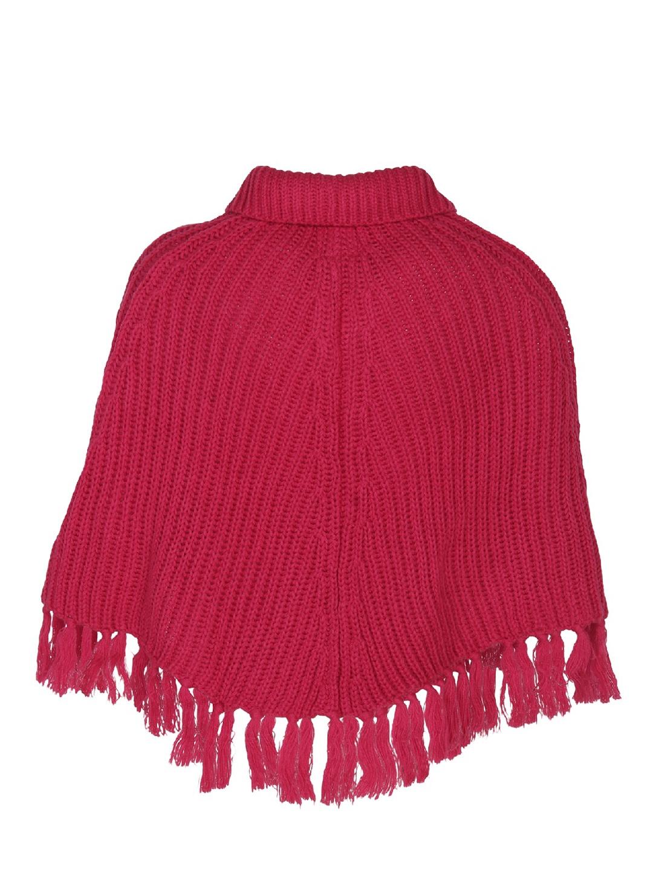 9b1b682ca Buy Cayman Girls Pink Self Design Woollen Poncho - Sweaters for ...