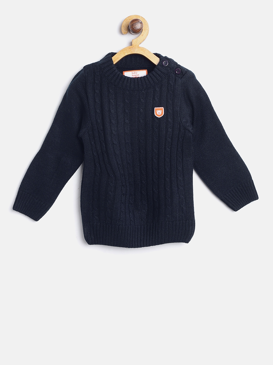 b08bc716c1da Buy 612 League Boys Navy Blue Cable Knit Pullover - Sweaters for ...
