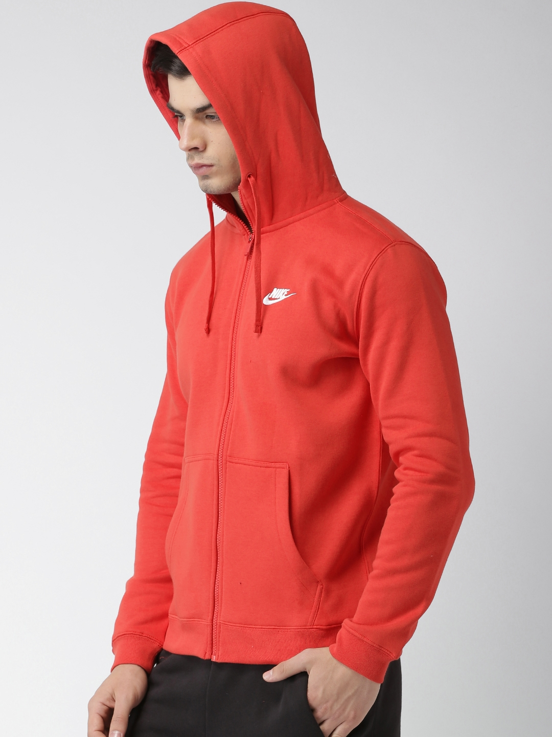 Buy Nike Men Red Solid Hooded Sweatshirt - Sweatshirts for Men ... a730f3877d