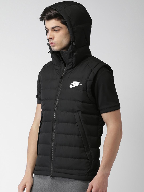 be61da8425e0 Buy Nike Men Black Solid AS M NSW DOWN FILL Puffer Jacket - Jackets ...