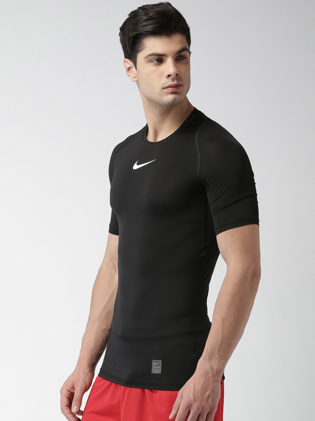 2d11f4e666c Buy Nike Men Black Solid Round Neck AS M NP T Shirt - Tshirts for ...