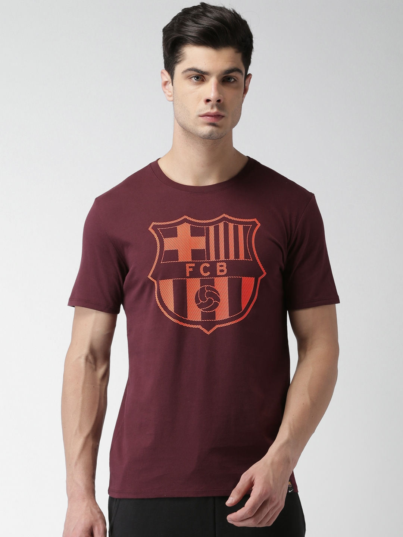 2397dd2a41c Buy Nike Men Maroon Printed Round Neck T Shirt - Tshirts for Men ...