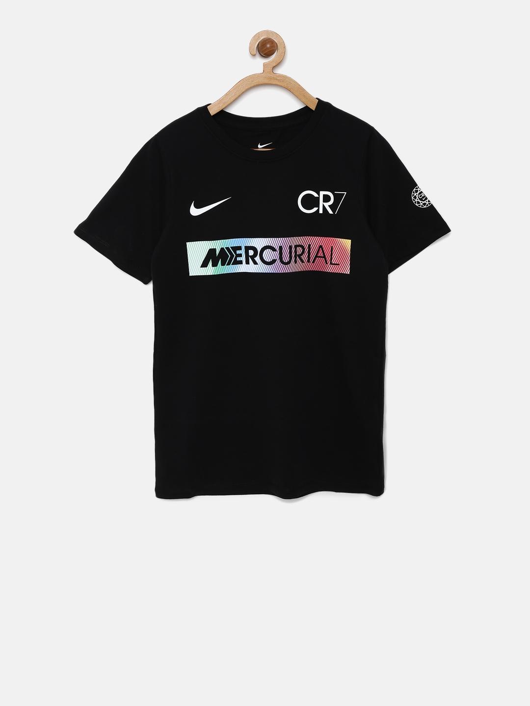 on feet shots of fresh styles price reduced Nike Boys Black RONALDO MERCURIAL Printed Football T-shirt