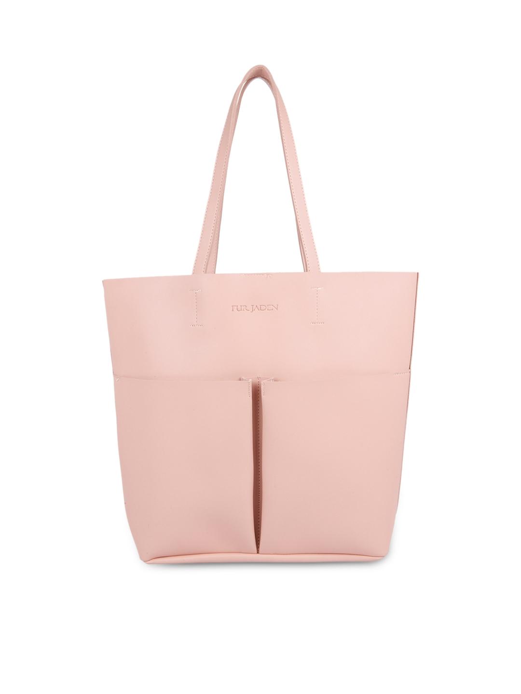 4a7cf7c75f Buy FUR JADEN Pink Solid Tote Bag - Handbags for Women 2190442